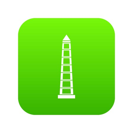 Obelisco of Buenos Aires, Argentina icon digital green for any design isolated on white vector illustration