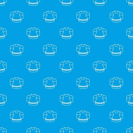 Ice hockey uniform pattern vector seamless blue repeat for any use