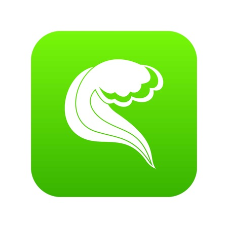 Ocean or sea wave icon digital green for any design isolated on white vector illustration