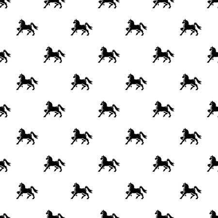 Knight horse mascot pattern vector seamless repeating for any web design