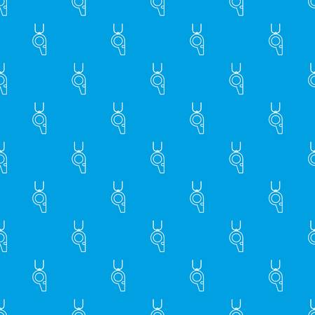 Hockey whistle pattern vector seamless blue repeat for any use Illustration