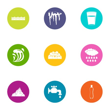 Icing icons set. Flat set of 9 icing vector icons for web isolated on white background