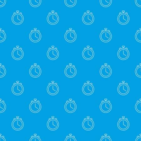 Stopwatch pattern vector seamless blue repeat for any use