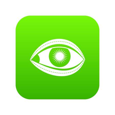 Plastic surgery of eye icon digital green for any design isolated on white vector illustration Stok Fotoğraf - 130231173