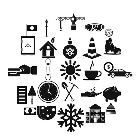 Villa icons set. Simple set of 25 villa vector icons for web isolated on white background Ilustração