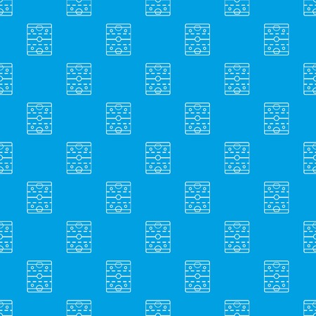 Hockey ice field pattern vector seamless blue repeat for any use