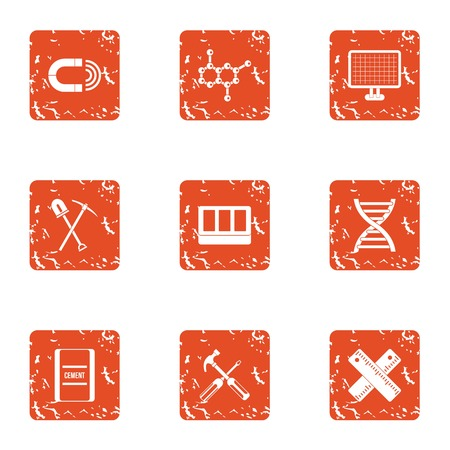Pull icons set. Grunge set of 9 pull vector icons for web isolated on white background