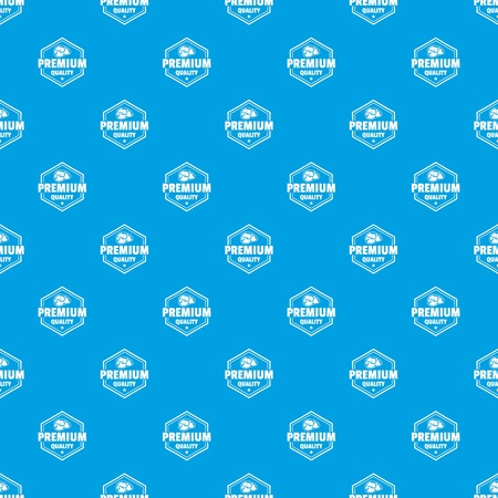 Premium meat quality pattern vector seamless blue