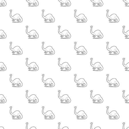 Apatosaurus dinosaur pattern vector seamless