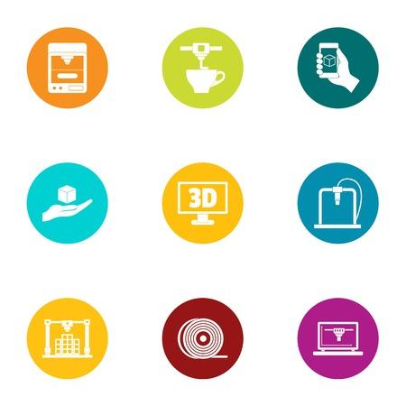 Koffiemachine pictogrammen instellen. Platte set van 9 koffiemachine vector iconen voor web geïsoleerd op een witte achtergrond