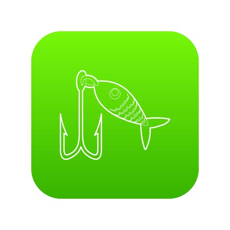 Fishing lure icon green vector isolated on white background  イラスト・ベクター素材