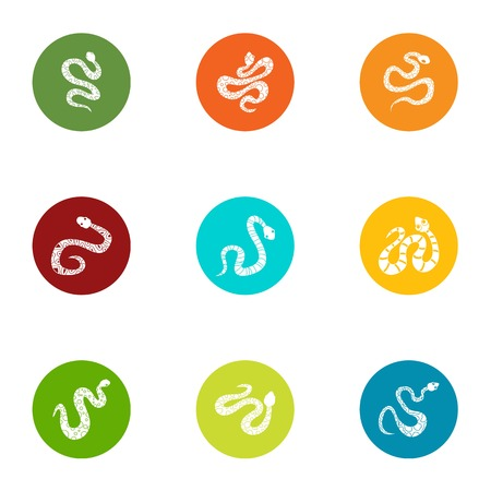 Creeping muck icons set. Flat set of 9 creeping muck vector icons for web isolated on white background