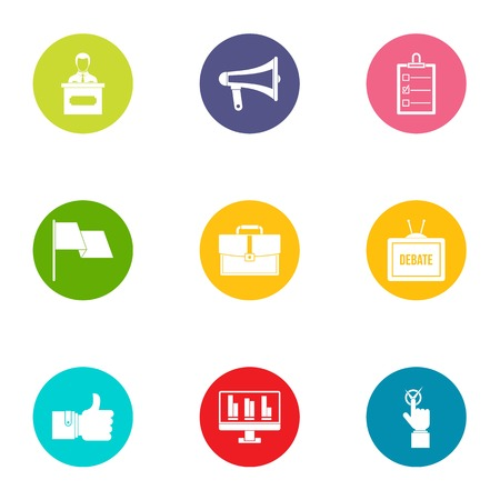 Insider information icons set. Flat set of 9 insider information vector icons for web isolated on white background