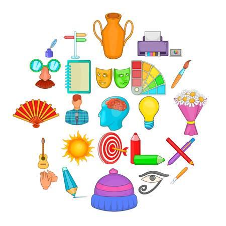 Ensemble d'icônes d'artisan. Ensemble de dessin animé de 25 icônes vectorielles artisan pour le web isolé sur fond blanc Vecteurs