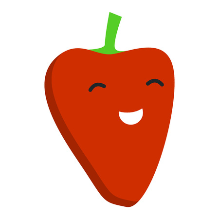 Smile red pepper icon. Flat illustration of smile red pepper vector icon for web design