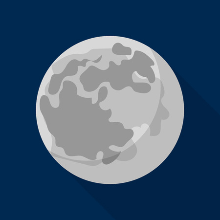 Space moon icon. Flat illustration of space moon vector icon for web design Illustration