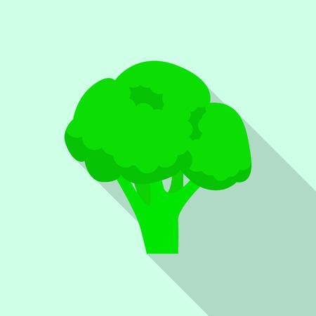Broccoli icon. Flat illustration of broccoli vector icon for web design