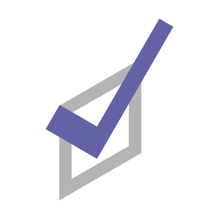 Check note mark icon. Isometric of check note mark vector icon for web design isolated on white background Çizim
