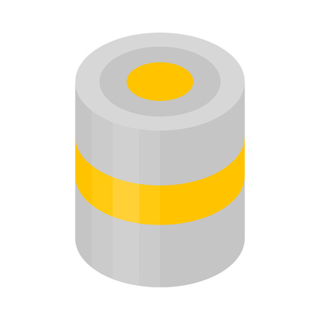 Yellow paint can icon. Isometric of yellow paint can vector icon for web design isolated on white background