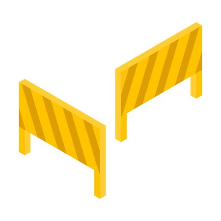 Road block icon. Isometric of road block vector icon for web design isolated on white background