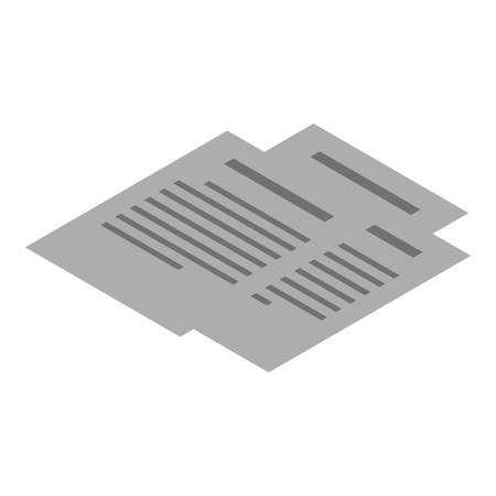 Office paper icon. Isometric of office paper vector icon for web design isolated on white background