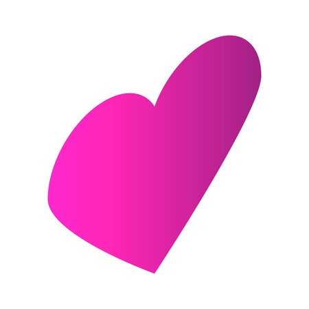 Pink heart icon. Isometric of pink heart vector icon for web design isolated on white background Illustration