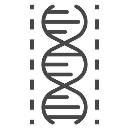 Dna icon, outline style