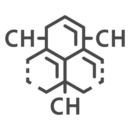 Carbon hydrogen substance icon, outline style