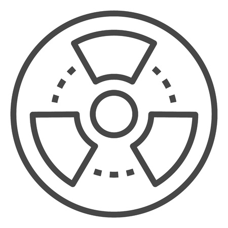 Radiation icon. Outline radiation vector icon for web design isolated on white background