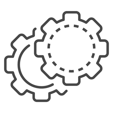 Cog wheel icon. Outline cog wheel vector icon for web design isolated on white background
