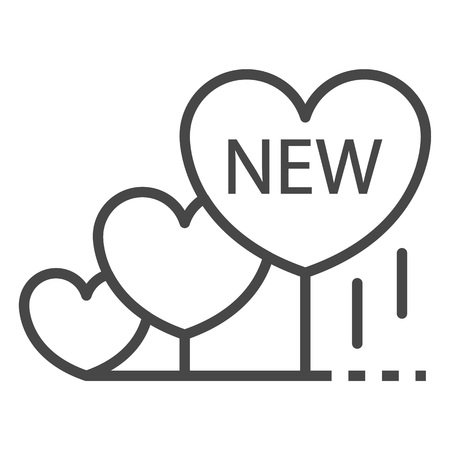 New heart grow icon, outline style Vectores
