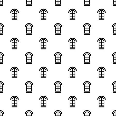 Semicircular window frame pattern vector seamless repeating for any web design