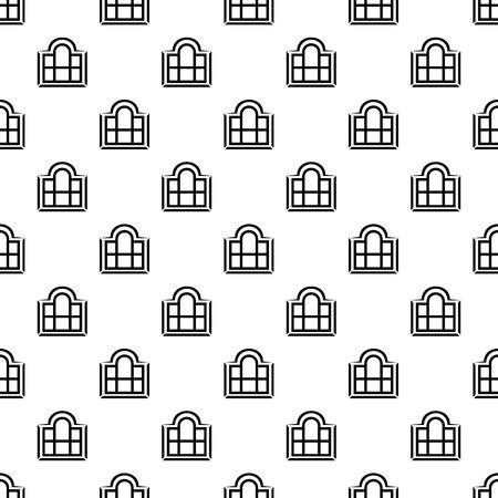 Beautiful window frame pattern vector seamless