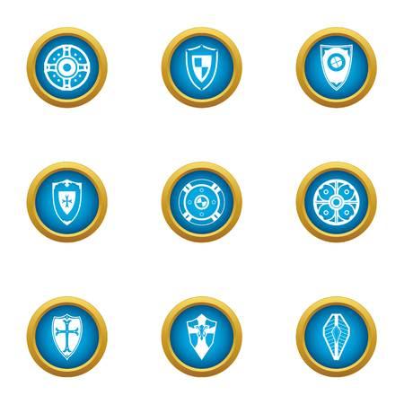 Selfdefence icons set. Flat set of 9 selfdefence vector icons for web isolated on white background