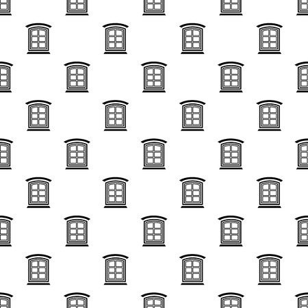 Retro window frame pattern vector seamless repeating for any web design  イラスト・ベクター素材