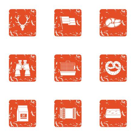 Shiver icons set. Grunge set of 9 shiver vector icons for web isolated on white background