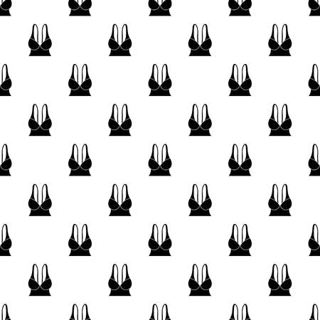 Big sports bra pattern vector seamless repeating for any web design