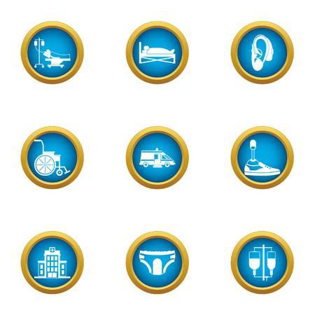 Medical furtherance icons set. Flat set of 9 medical furtherance vector icons for web isolated on white background