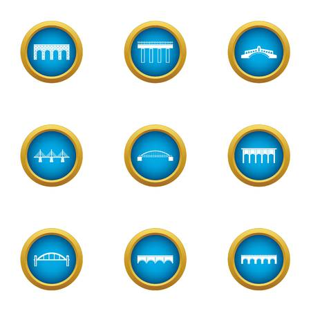 Roadbed icons set. Flat set of 9 roadbed vector icons for web isolated on white background