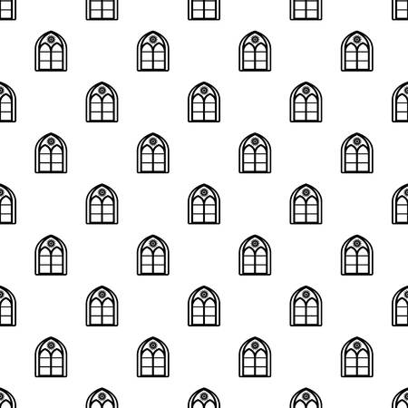 Oriental window frame pattern vector seamless