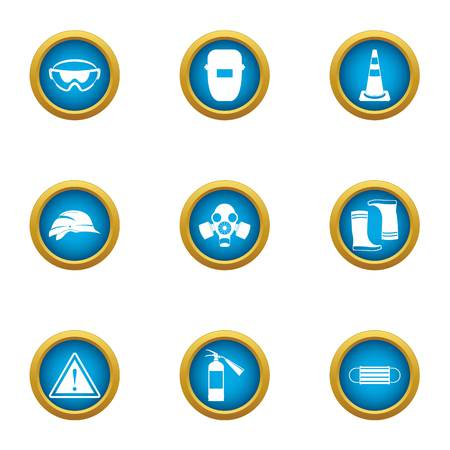 Electric welding icons set. Flat set of 9 electric welding vector icons for web isolated on white background