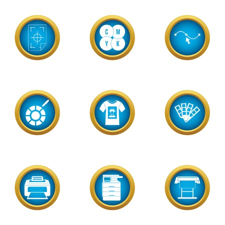 Certificate icons set. Flat set of 9 certificate vector icons for web isolated on white background
