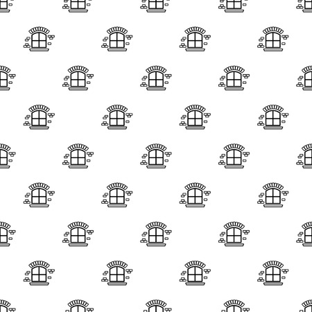 Small window frame pattern vector seamless