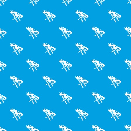 Ironing board pattern vector seamless blue repeat for any use Illustration
