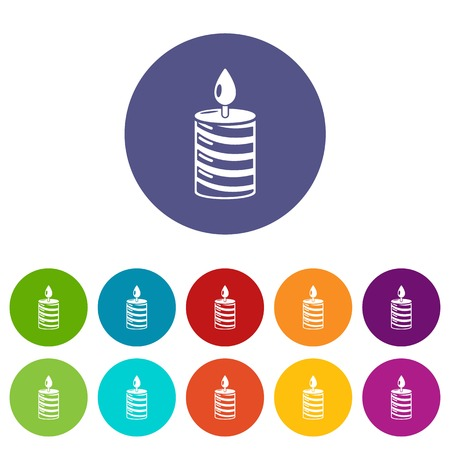 Candle holiday icon. Simple illustration of candle holiday vector icon for web Illustration