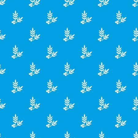 Spa eco leafs pattern vector seamless blue repeat for any use
