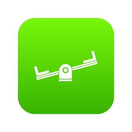 Seesaw icon digital green for any design isolated on white vector illustration