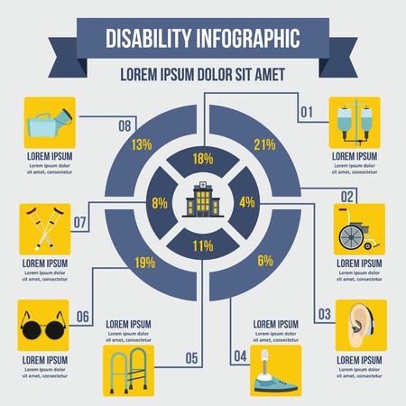 Invalid infographic concept, flat style