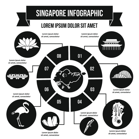 Singapore infographic concept, simple style Stock Photo