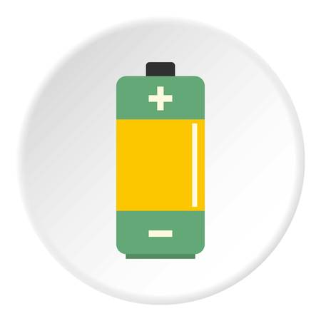 AA Alkaline battery icon circle